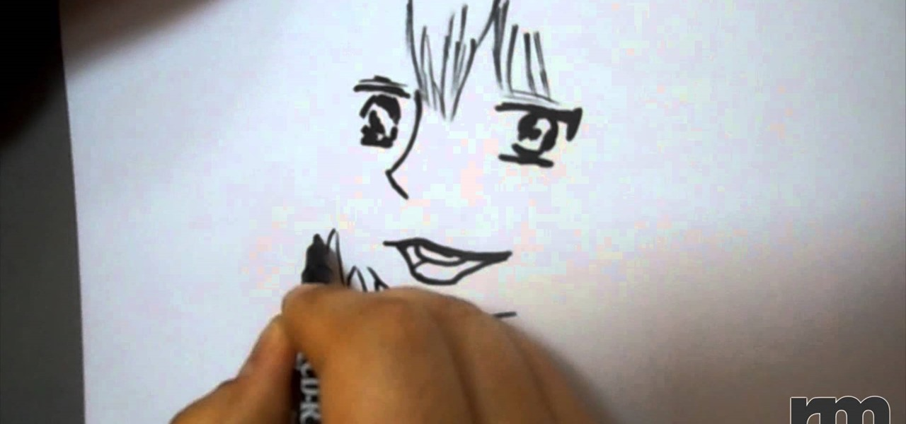 Draw a Manga Face of a Boy