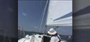Roller furl the jib when sailing