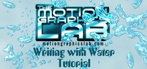 Write with water using Adobe After Effects