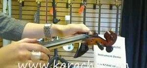 Tune a new violin