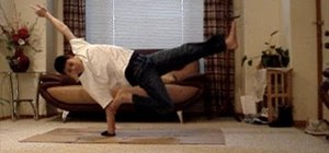 Breakdance a reverse airbaby