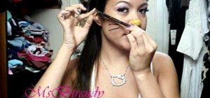 Create a cute Hello Kitty makeup look for Halloween