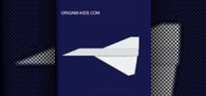 "Origami a paper airplane ""Mirage"""
