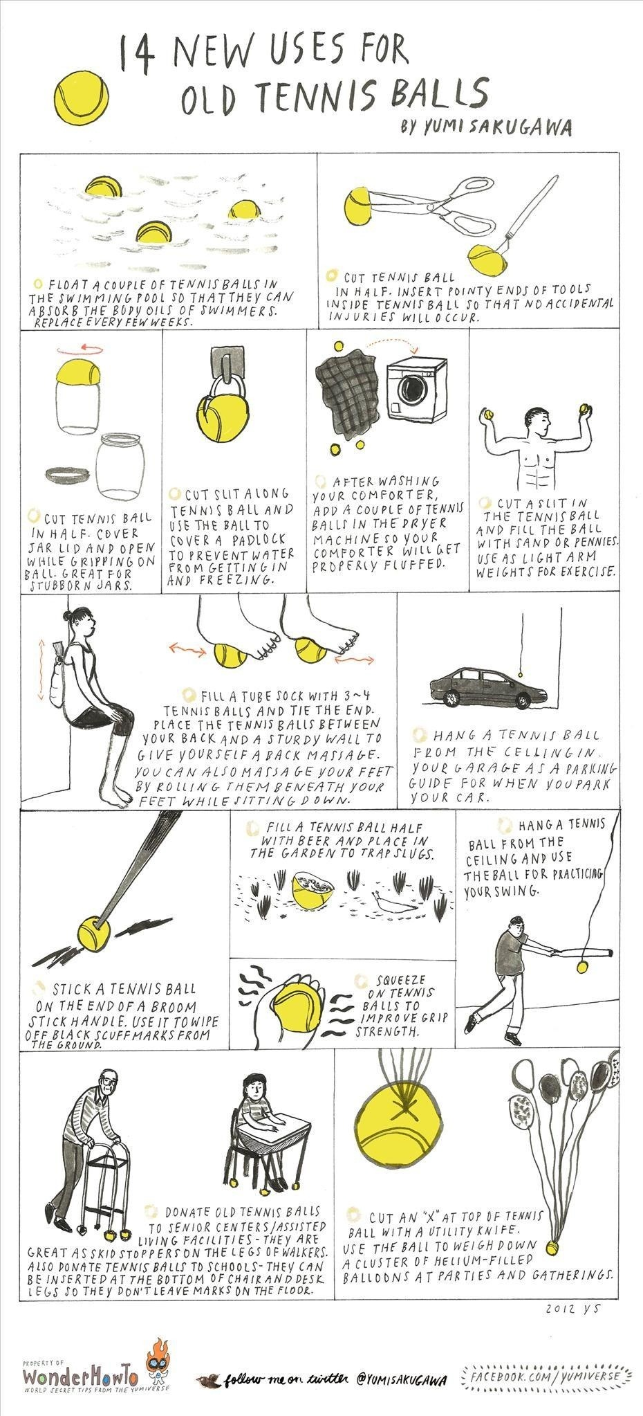 14 New Uses for Old Tennis Balls