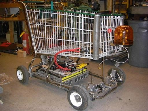 Turbo Jet Engine + Shopping Cart = Insane LOLrioKart
