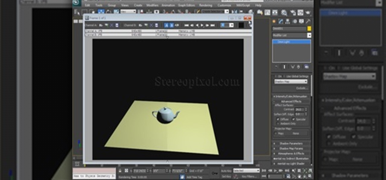 Use Advanced Lighting Effects in Autodesk 3ds Max 2014