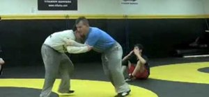 Defend underhook to duckunder in wrestling