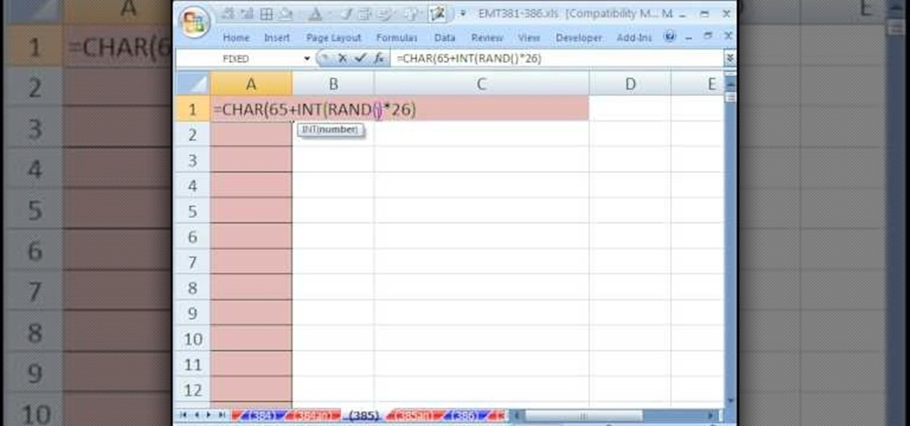 How to Generate random letters without RANDBETWEEN in Excel