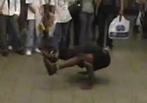 Aussie Chick Gets Schooled by NYC Subway Dancers