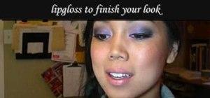Get a smoky purple eye with eyeshadow