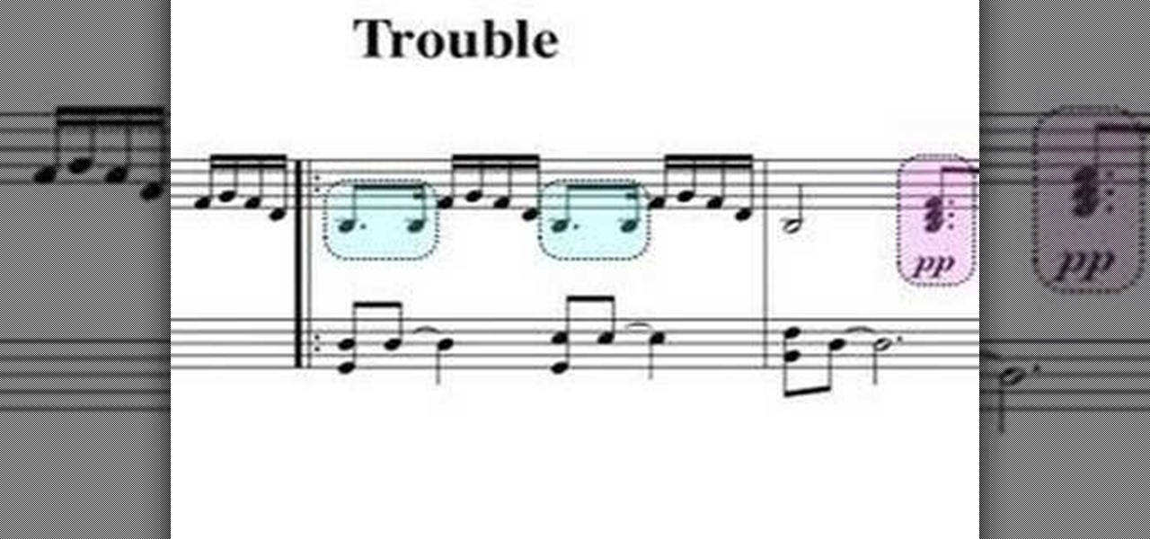 How To Play Trouble By Coldplay On Piano Piano Keyboard
