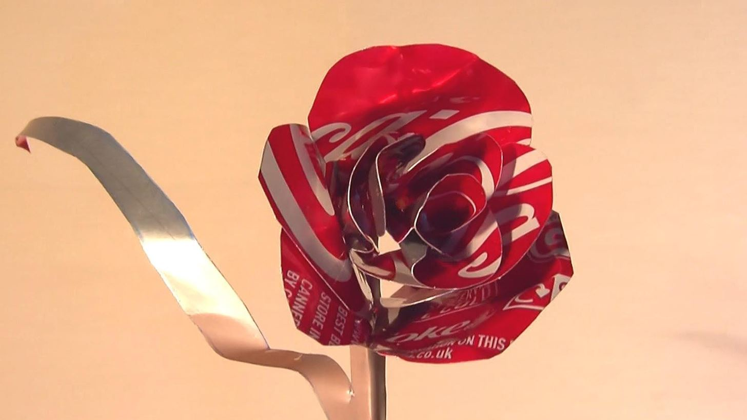 How to Make a Coca-Cola Can Rose for Valentine's Day