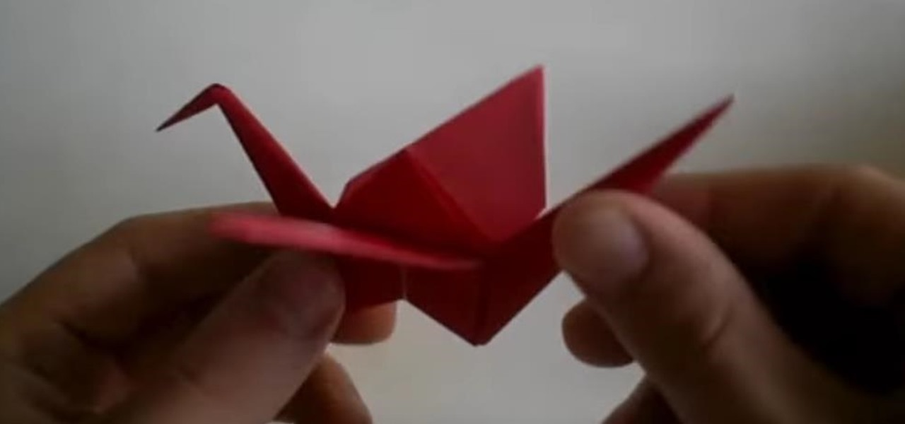 Fold a Basic Origami Crane for Beginners