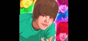 Draw Justin Bieber step by step using basic shapes