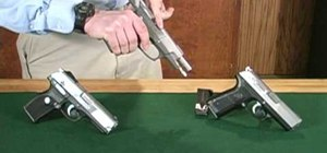 Disassemble a Ruger P89 centerfire semi-automatic pistol