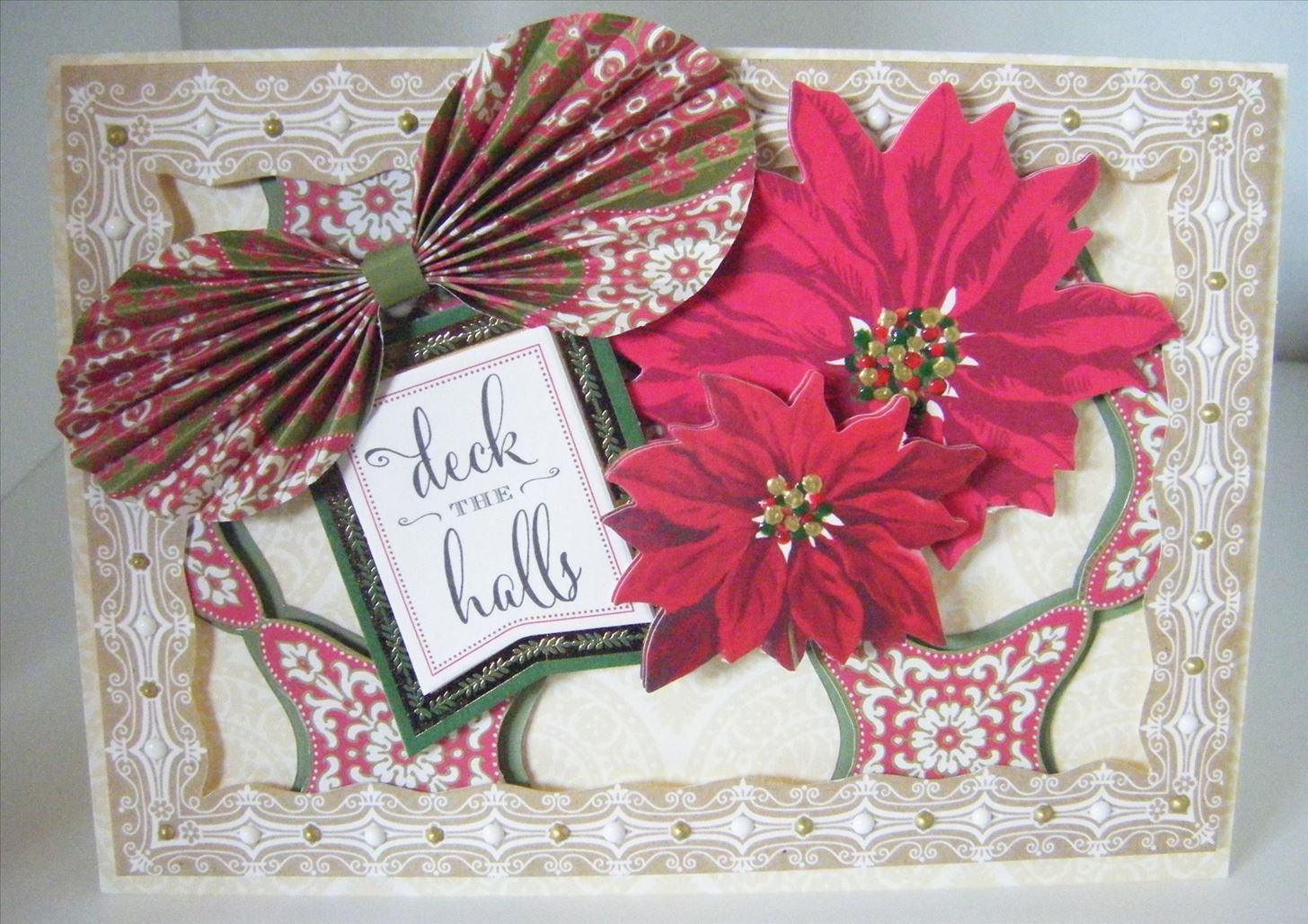 How to Make a Christmas Cut Out Poinsettia Card