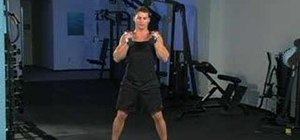 Do dumbbell squat thrusts with shoulder presses