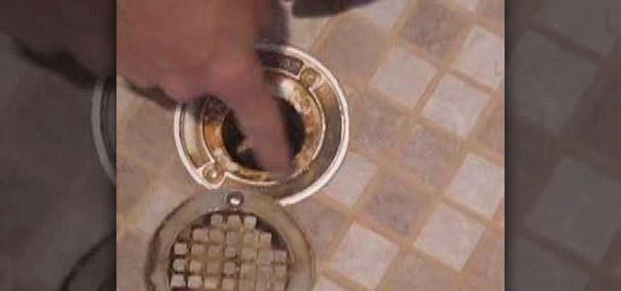 How To Clean Your Shower Drain Properly « Plumbing U0026 Electric :: WonderHowTo
