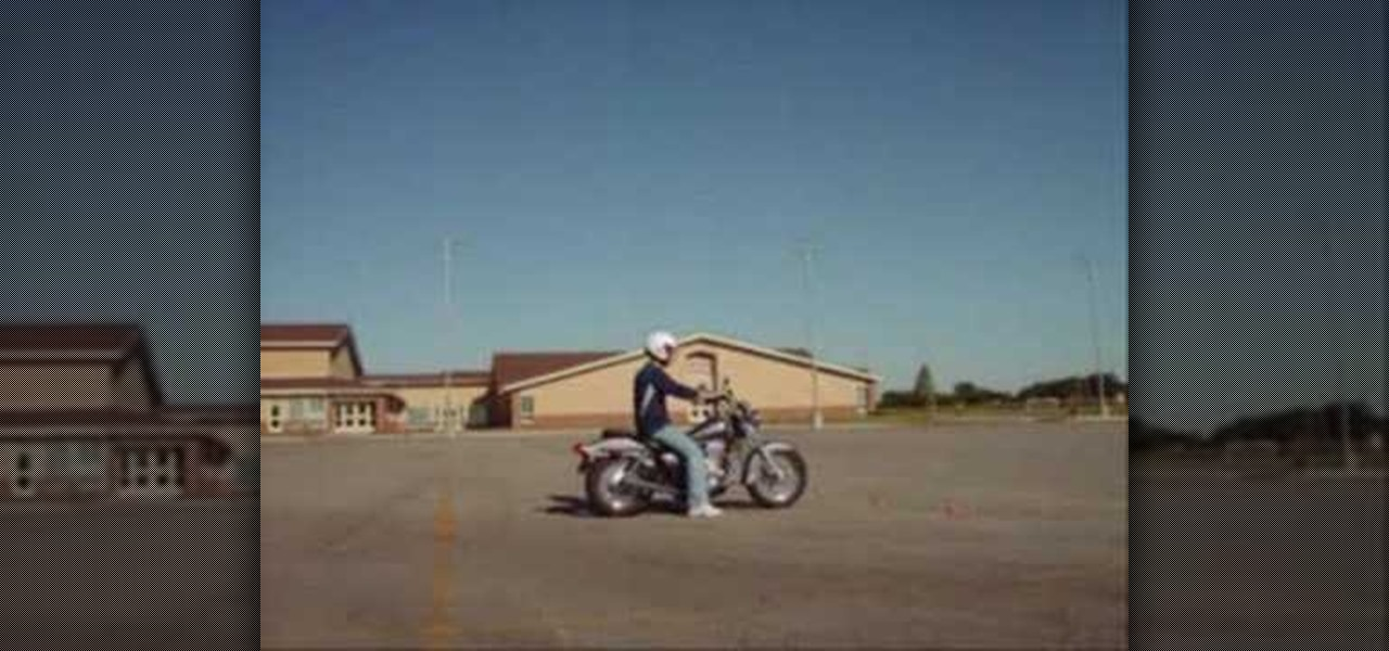 How to Perform an off-set cone weave on a motorcycle