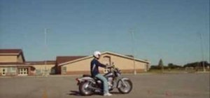 Use quick stop emergency brake skills on a motorcycle