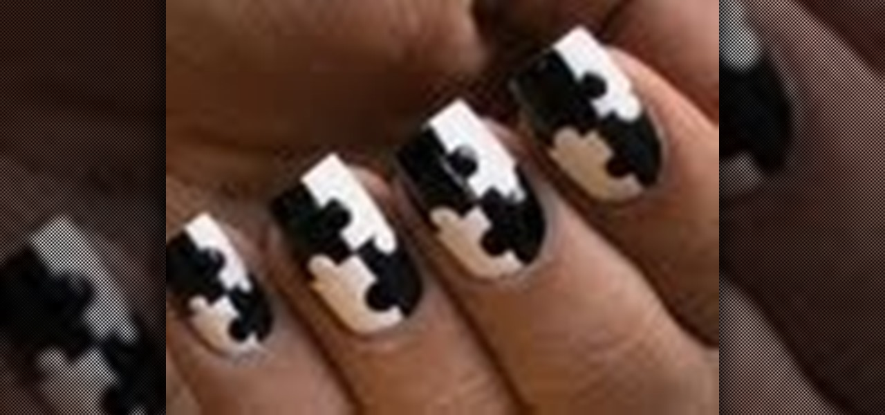 Do Black and White Puzzle Nails