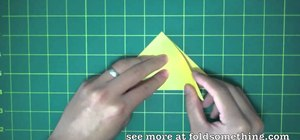 Fold a simple origami star from a water bomb base