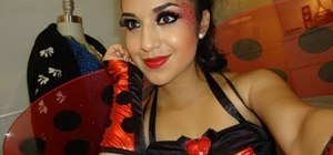 Create a sexy and flirty ladybug look for Halloween