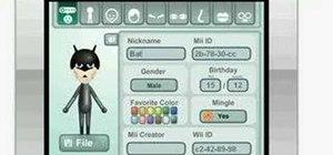 Make a Batman Mii