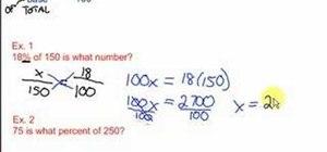 Solve percent proportions