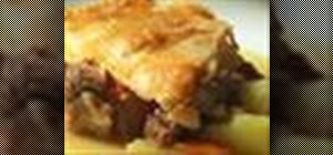 Make meat and potato pie