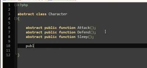 Use abstract classes when programming with PHP OOP