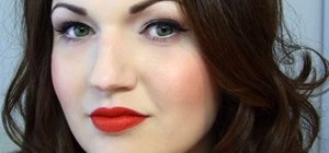 Create a '50s pin up/Dita Von Teese inspired makeup look