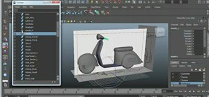 Use the Outliner feature in Autodesk Maya 2011