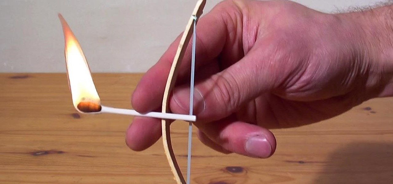 How to make a miniature bow and arrow from household items for Fun stuff to make with household items