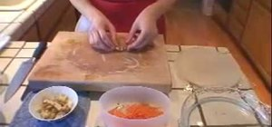 Prepare Asian-style spring rolls