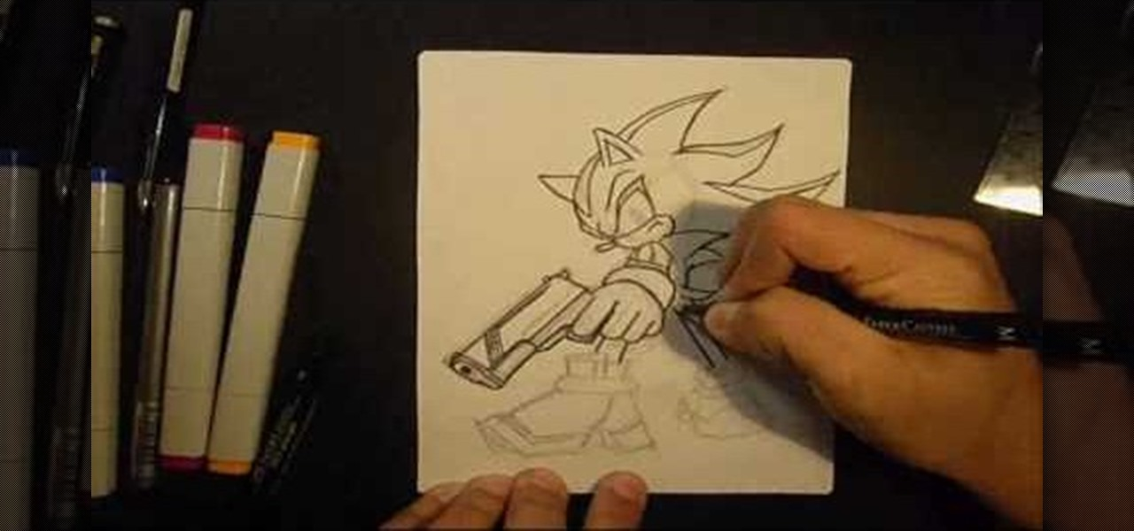 How To Draw Shadow The Hedgehog Drawing Illustration