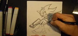 Draw Shadow the Hedgehog