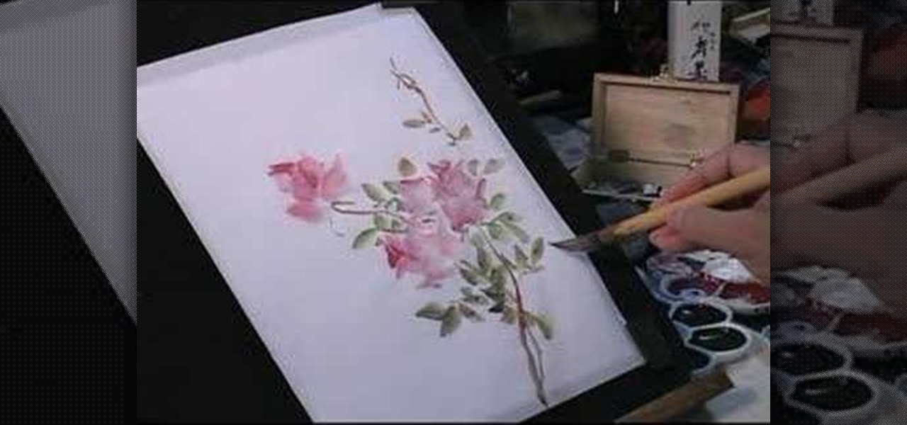 How to paint roses and a butterfly in chinese painting for Acrylic painting on paper tips