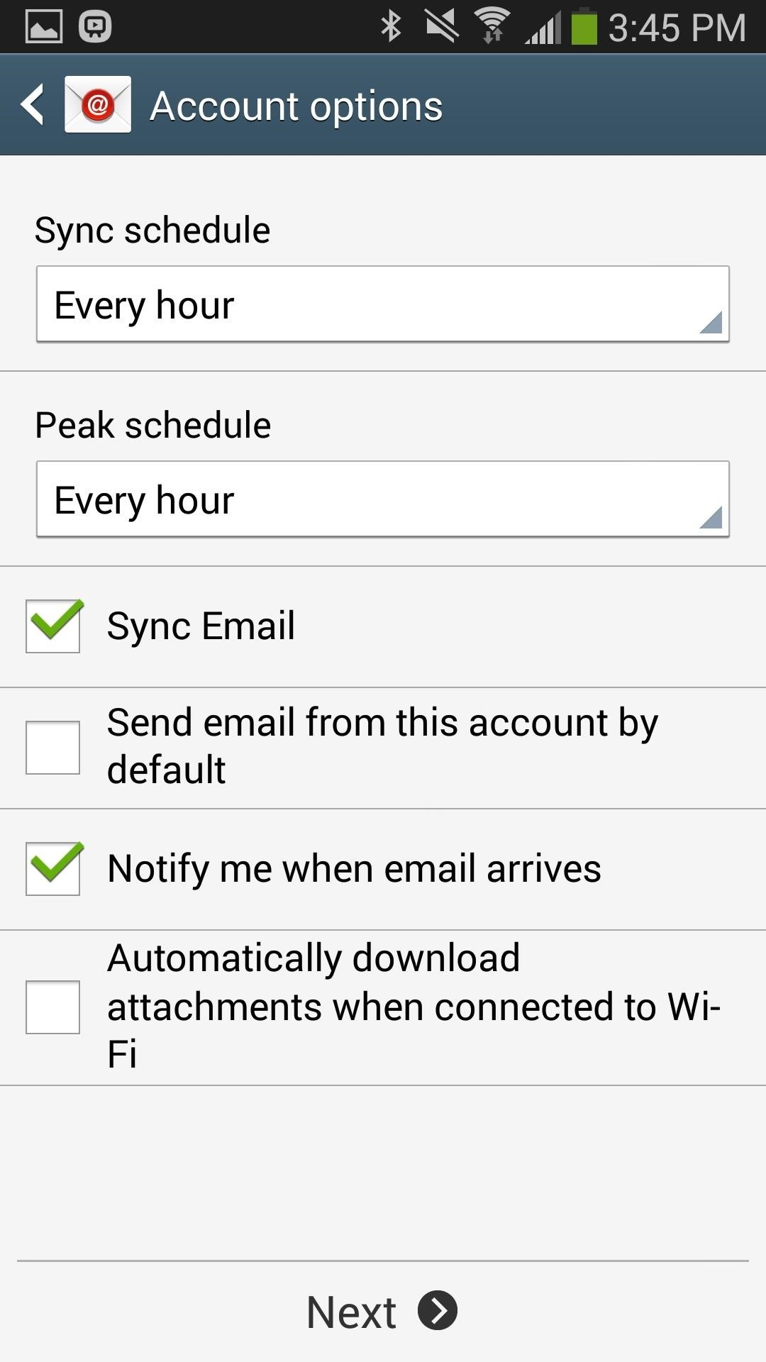 how to set up my icloud email on android