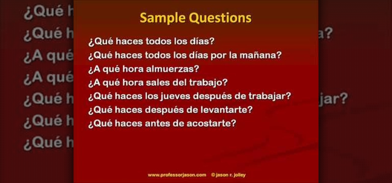 How to Talk about your daily routine in Spanish « Spanish Language ...
