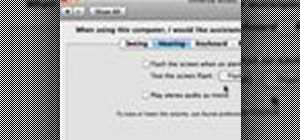 Flash the screen when you receive an alert in Mac OS X