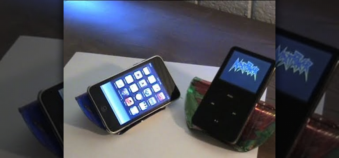 How to Make an iPod or iPhone stand with a compact disc, marker and