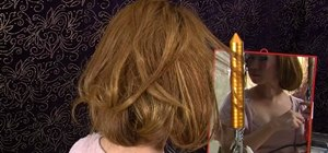 Fake a bob haircut by tucking your hair under