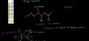 Name an alkyl halide (or haloalkane) in organic chemistry