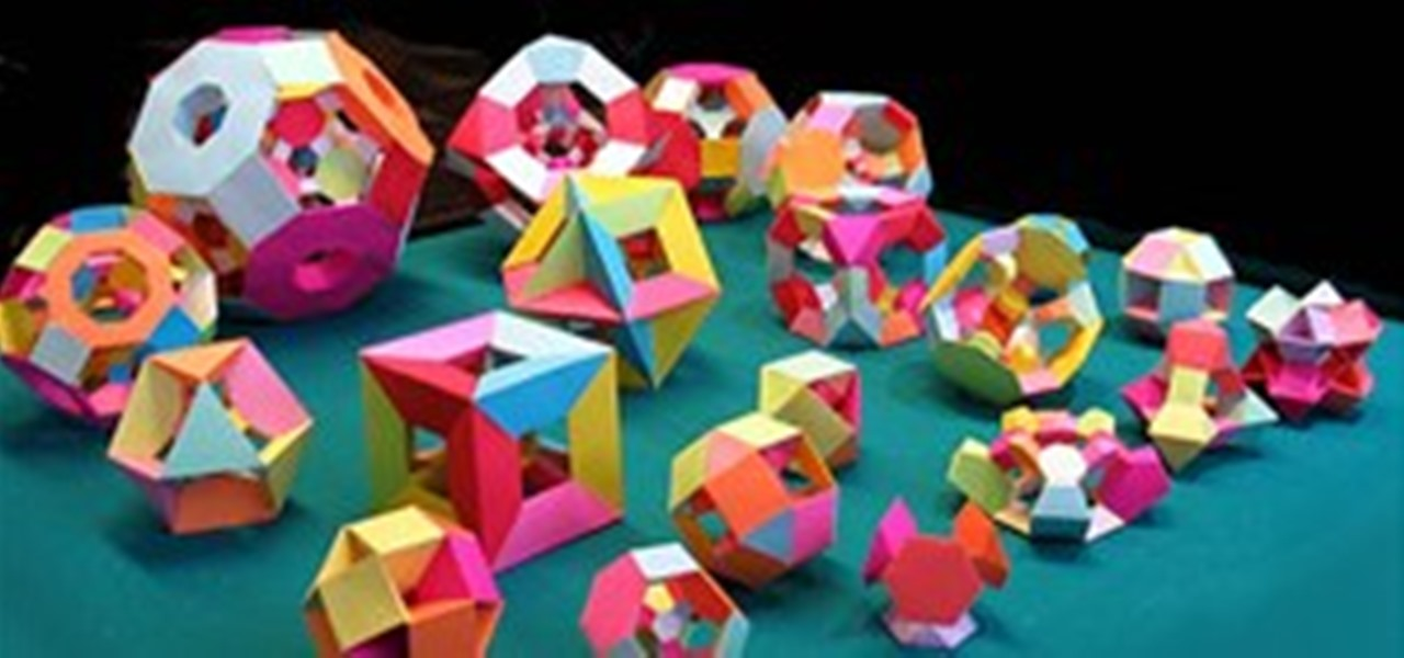 How To Welcome Math Craft World Bonus Make Your Own Paper Polyhedra