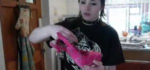 Make shoes (hooves) out of paper mache