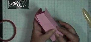 Make a mini milk carton with Stampin' Up!