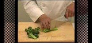 Prepare broccoli for Chinese food
