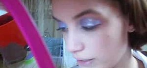 Create a purple glitter eyeshadow look