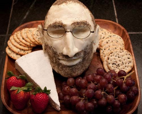 DIY Steve Jobs Cheese Head Is Kinda Gross